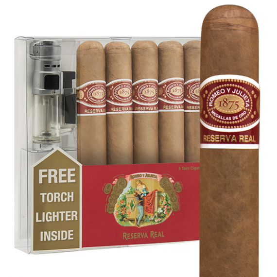 Romeo y Julieta Reserva Real 5-Cigar + Lighter Gift Pack