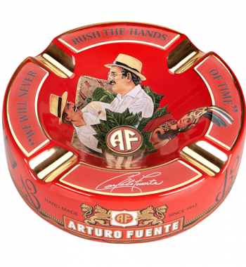 "Arturo Fuente Limited Edition Red Porcelain Cigar Ashtray (Large 8.75"" )"
