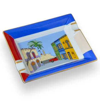 "Elie Bleu ""Casa Cubana"" Porcelain Cigar Ashtray"