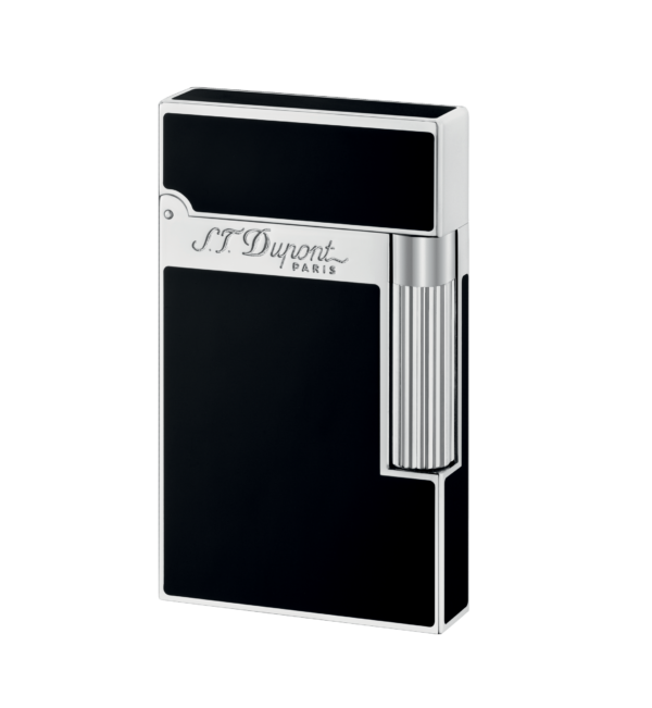 Bayside Cigars - St. Dupont - Palladium finish Natural Lacquer lighter